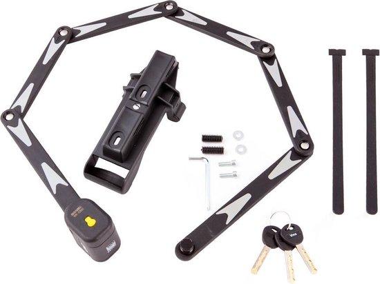 Vinz Lhotse Vouwslot ART 2 - 95cm Fietsslot / Mountainbike slot / Racefiets slot / BMX slot met bevestiging