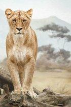 Wandkraft glasschilderij Afrika 148x98cm