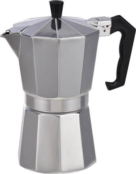 Zilveren percolator / espresso apparaat voor 6 kopjes - Koffiezetapparaat - Koffiepercolator