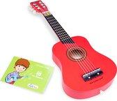 New Classic Toys - Speelgoed Gitaar de Luxe - Rood