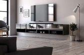 Hangend Tv Meubel Hoogglans Zwart 200 cm - Modern Strak Design