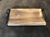 Houten dienblad met handvaten, plank
