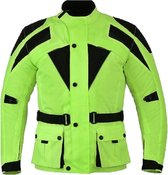 Urban Leather Cordura Motorjas Heren - Fluor Geel - Maat M