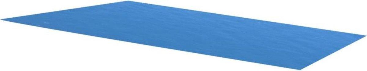 Zwembadzeil rechthoekig 450 x 220 cm PE blauw