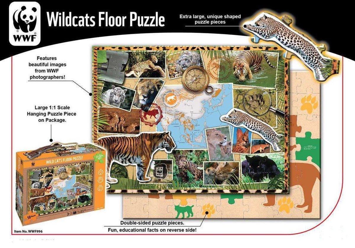 WWF - Wereld Natuur Fonds puzzel - puzzel - legpuzzel - wilde katten puzzel - dierenpuzzel - Puzzels - puzzel volwassenen - puzzel voor baby's en kinderen
