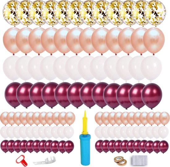 Partizzle® Rose Goud verjaardag of bruiloft confetti ballonnen versiering set - Party Decoratie – XL