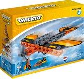 Twickto constructiespeelgoed - bouwset - vliegtuig en raket - 46 delig - Aviation #2