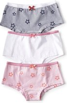 Little Label - meisjes - onderbroek - 3 stuks - sterren multicolor - maat 134/140 - bio-katoen