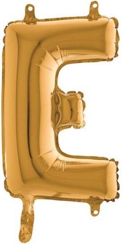 Grabo balloon - Folieballon - letter E - goud - 35cm
