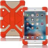 Siliconen Tablet Hoes voor 7 tot 8 inch Scherm - Universeel Hoesje Case Cover voor o.a. iPad Mini, Alcatel, Kurio Tab en meer - Oranje