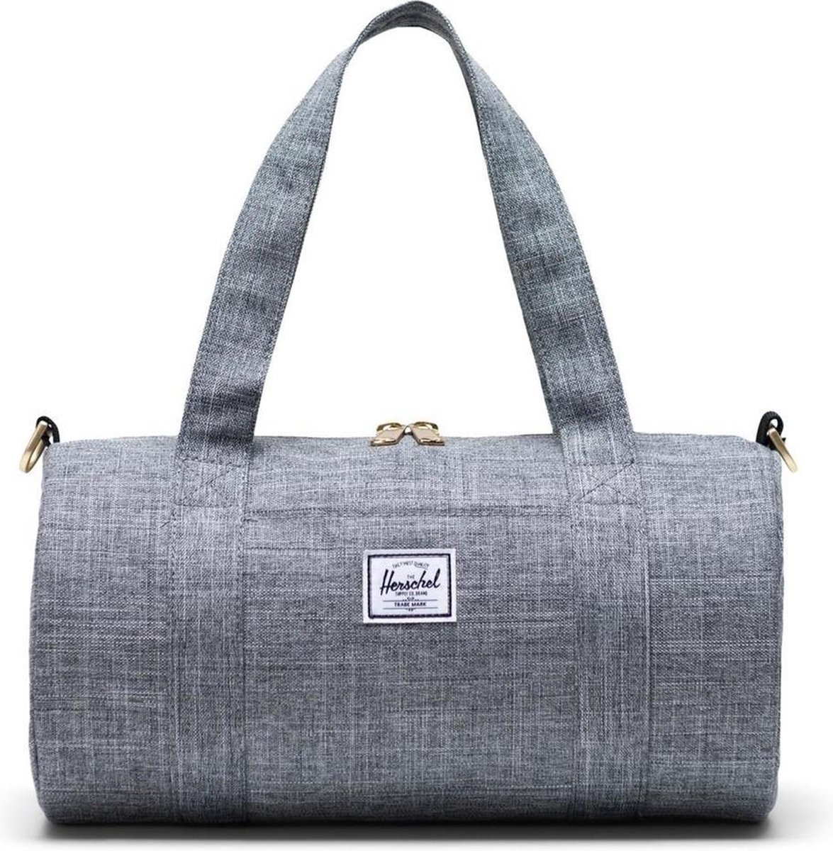 Herschel Sutton Mini Raven Crosshatch Weekendtas  - grijs