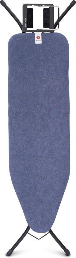 Brabantia Strijkplank B met Strijkijzerhouder - 124 x 38 cm - Denim Blue