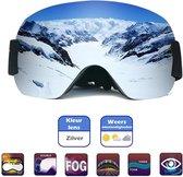 *VERNIEUWD* Skibril | Snowboardbril | Met opbergzak | Anti-condens en UV protected | Anti-slip | Wintersport | Unisex