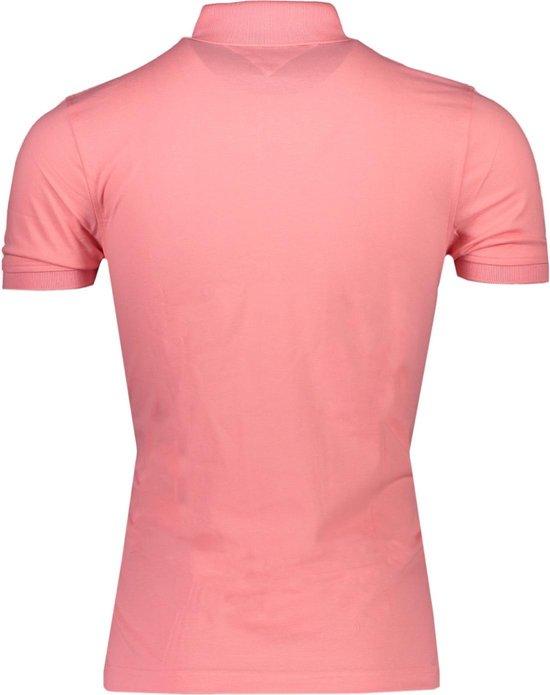 Tommy Hilfiger Polo Roze Roze Getailleerd Maat 3XL Heren LenteZomer Collectie Katoen