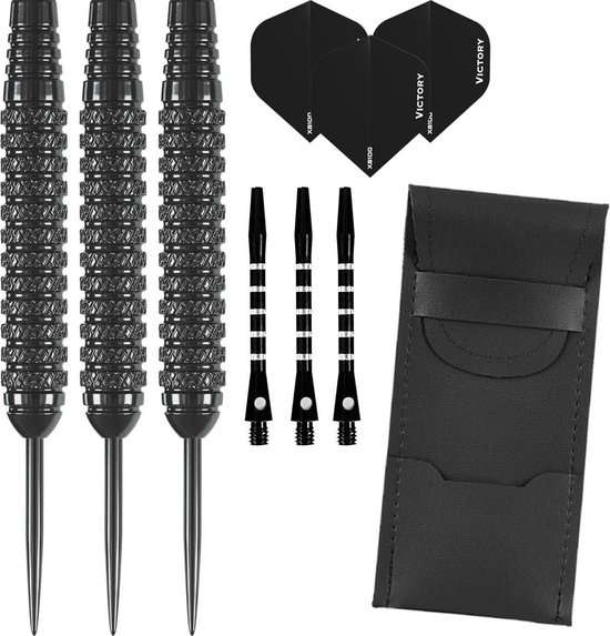 Dragon darts – Nero Black edition- 22 gram - dartpijlen – inclusief aluminium - darts shafts – darts flights