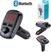 Bluetooth FM Transmitter - Handsfree Bellen - Muziek Streamen - Voice Navigatie - Telefoon Opladen - Draadloze Auto Carkit - HD Display Scherm - 2 USB Aansluitingen - Microfoon - SD Kaart - Smartphone/Iphone/Samsung