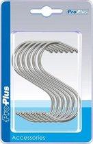 24x S-haken/ophanghaken verchroomd staal 4 mm 6,5 x 7,5 cm - Ophanghaakjes tent/camper/caravan accessoires