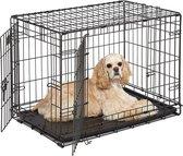 Topmast Hondenbench Bench Autobench STRONG - Zwart - Honden tot 20 kg - M - 77 x 48 x 55 cm + Uitneembaar Tussenschot