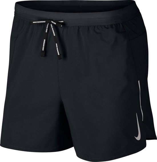 Nike Dri-Fit Flex Stride Heren Sportbroek - Black/Reflective Silv - Maat XL