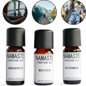 Etherische Olie set | Meditatie - Concentratie - Ontspannen | Essentiële Olie | Aroma diffuser
