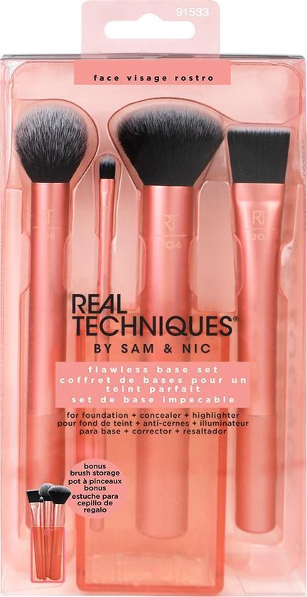 Real Techniques Flawless Base Set - Make-up Kwastenset