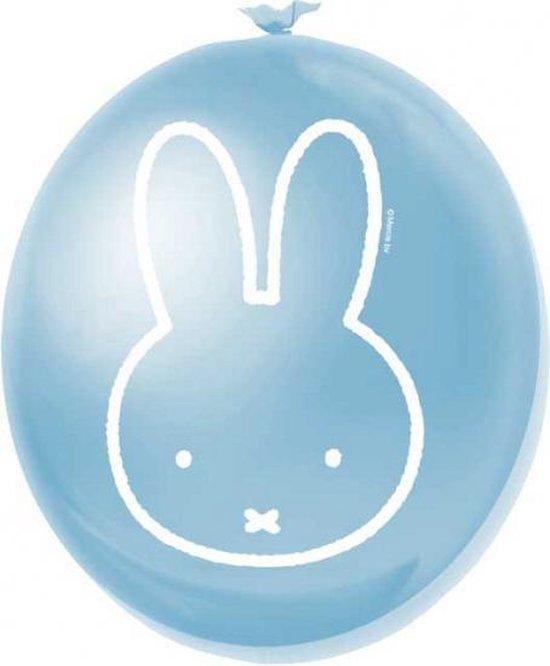 Voordeelset Nijntje ballonnen blauw - 30 cm - 12 stuks - Kinderfeestje artikelen & decoratie - Thema feest versiering - Babyshower