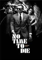 Canvas Schilderij * James Bond No Time To Die 2 * - Kunst Poster - Zwartwit-Kleur - 50 x 70 cm