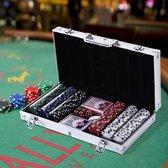Deluxe Pokerset In Aluminium Koffer - Omaha / Texas Hold Em Pro Poker Set Met 300 Chips & Poker Kaarten Playing Cards - Pokerkoffer