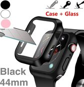 Screenprotector Apple watch 44 mm / Apple watch case hoesje zwart