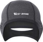 KW® Zwarte Fietsmuts voor dames | Winddicht wintersport | Onderhelm cap hoofdwarmer voor onder helm headwarmer helmmuts
