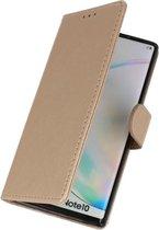 Book Case Hoes voor Samsung Galaxy Note 10 - Goud