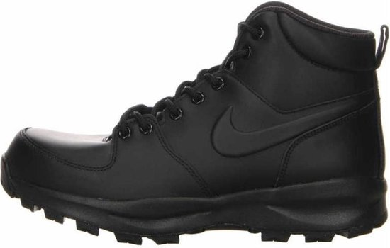 Nike Manoa Leather Heren Sneakers - Black/Black-Black - Maat 43