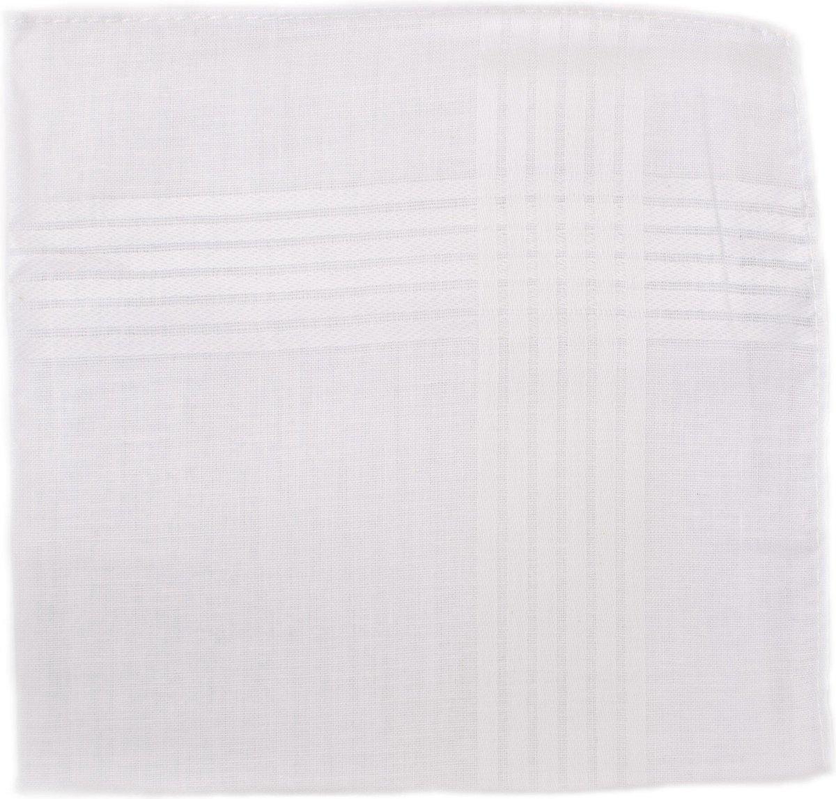 Zakdoek - 6 katoenen zakdoeken - Heren zakdoeken - Witte zakdoeken - 100% katoen - 40x40 cm