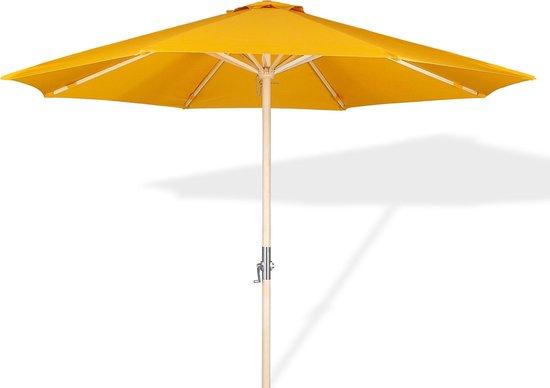Lanterfant® Parasol Lucas - Houten parasol - 300 cm - Oker