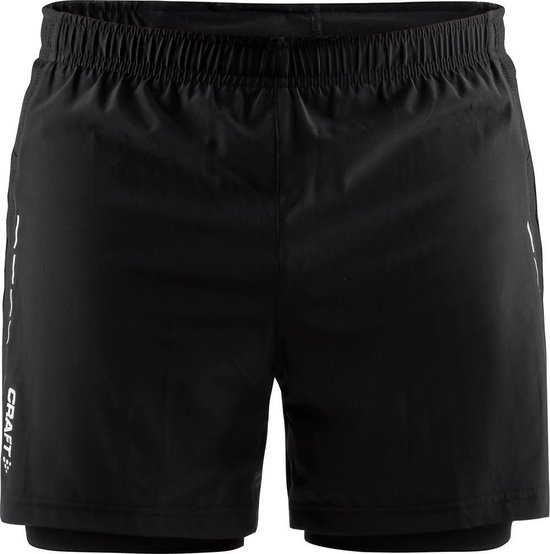 Craft Essential 2-In-1 Shorts M Sportbroek Heren - Black