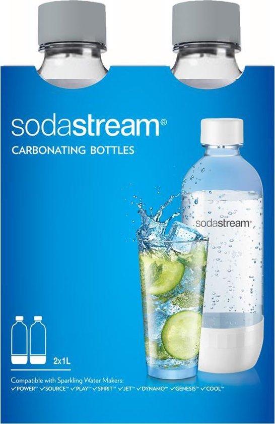 SodaStream Duopack drinkfles - 1 L - 2 stuks - Grijs - SodaStream