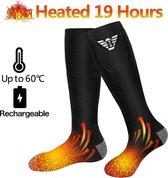 KW® Verwarmde Sokken Heren en Dames | Maat L elektrisch verwarmde sokken | Heated socks (Skisokken, Sportsokken, Wintersokken) | Batterijgevoede sokken voor kamperen | Vissen fietsen motorrijden skiën