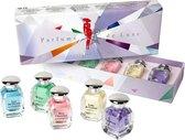 Parfum de Luxe (een luxe originele Franse miniatuurset in cadeau verpakking) met frisse geuren.