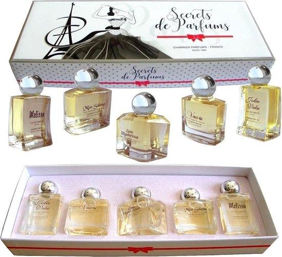 Secrets de Parfums (Originele Franse  bloemige Miniatuurset) origineel uit Grasse van Paul Charrier