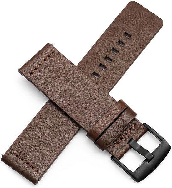 Horlogeband van Leer voor Shinola   22 mm   Horloge Band - Horlogebandjes   Bruin