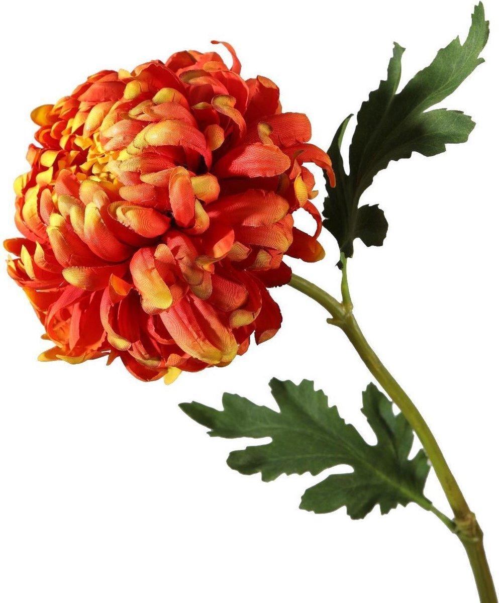 Viv! Home Luxuries Chrysant groot zijden bloem oranje topkwaliteit online kopen