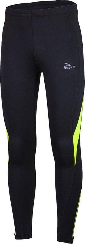 Rogelli Dunbar Running Wintertight  Sportbroek - Maat XXL  - Mannen - zwart/geel