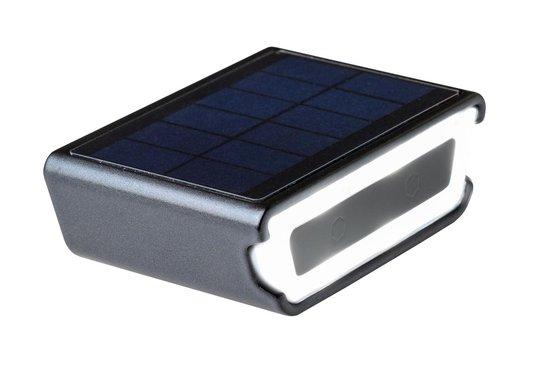 Rydon fietsverlichting voorlamp -SOLAR + USB- ZWART