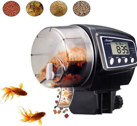 TZ® Automatische visvoeder | Vis voeder met LCD-display en timer voor aquarium | Voederapparaat | Pet feeder | Automatisch voeren eten geven