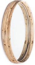 Ronde Spiegel Rotan - Diameter 40cm