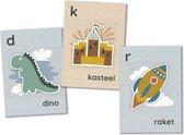 Mijn alfabetkaarten - 26 letterkaarten - speel- en leerkaarten - leren lezen - set Pien