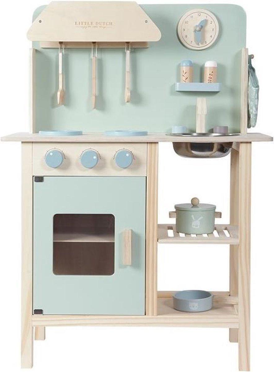 Little Dutch Speelgoed Houten Keuken - Mint
