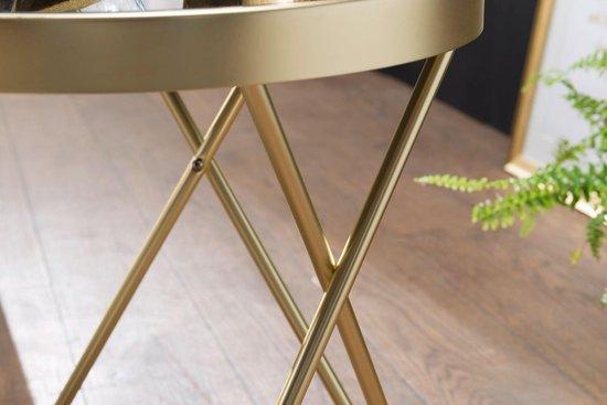 Bijzettafel - Salontafel - Design - Rond - Goud - Ø 42 cm