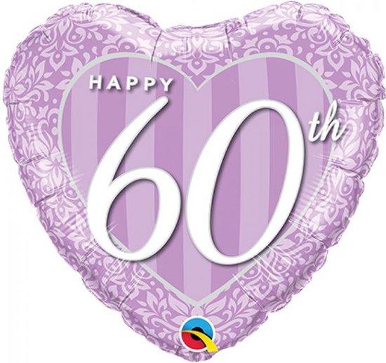 Folieballon 60 jaar getrouwd hart