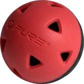 P2I Pure2improve  Golf Impact Training Balls - Black/Red - 5 inch - Set of 6